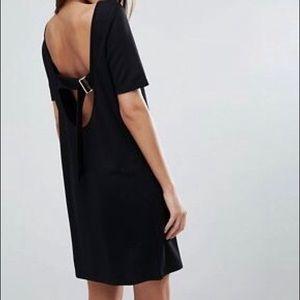 ASOS Mini Shift Dress w Low Back & Gold D Ring